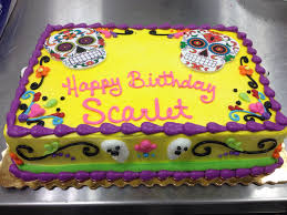 sugar skulls dead birthday cake 1 4 sheet stuff