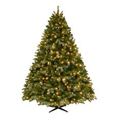 balsam fir christmas tree home accents 7 5 ft pre lit grand fir set artificial