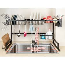 sink kitchen cabinet organizer arcci large dish drying rack the sink drainer for dual