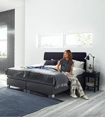 boxspringbett victoria jensen opal continental bed in anthracite textiles bedroom
