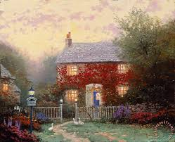 kinkade pye corner cottage painting pye corner cottage