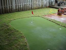Backyard Putting Green Installation by Southern Landkeepers Inc Services