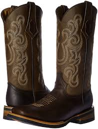 amazon com ferrini men u0027s maverick chocolate square toe western