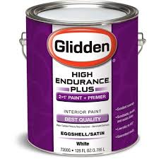 glidden high endurance plus interior eggshell satin white 1