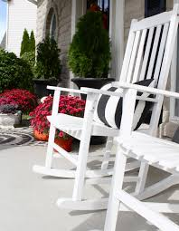 Outdoor Rockers The Yellow Cape Cod Fall Porch With Hayneedle Porch Rockers