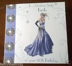 ladies female handmade personalised birthday card dress any age
