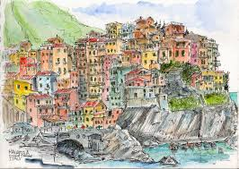 Balboa Naval Hospital Map Exploring The Cinque Terre By Boat Urban Sketchers