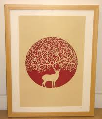 stag laser cut by paper panda