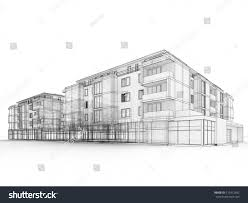 apartment building design apartment building design concept architects computer stock