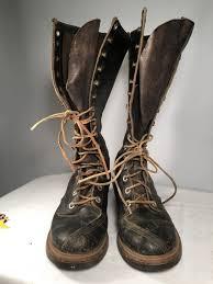 tall biker boots vintage men u0027s 1960 u0027s seiberling lace up hippie boots bf goodrich