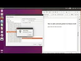 ubuntu network install tutorial how to install a network printer in ubuntu 16 04 youtube