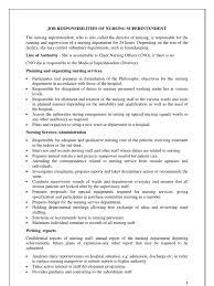 Medical Records Job Duties Job Responsibilities Of Nursing Superintendent Nursing Hospital
