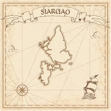 Treasure Island Map Siargao Old Treasure Map U2014 Stock Vector Gagarych 130069346