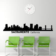 sacramento california skyline wall decal vinyl sticker ciy