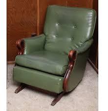 vintage vinyl upholstered rocking chair ebth