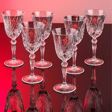 crystal wine glasses rcr 25601020006 luxion melodia crystal wine glasses set of 6