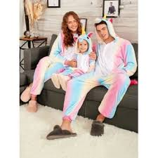unicorn matching family onesie pajamas pink s