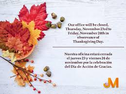 jm international usa on our office will be closed in