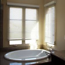 Faux Wood Blinds Custom Size 2 Inch Faux Wood Blinds White Wooden Blinds With White Window