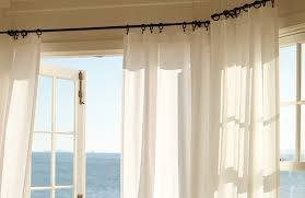 Hanging Curtains With Rings Pottery Barn Curtain With The Right Window Treatment Can