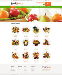 fruit gifts fruit gifts store opencart template 49580