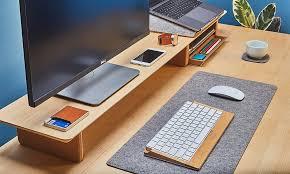 Shelf Computer Desk Grovemade U0027s Desk Shelf System Helps You Become More Organized