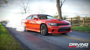 charger hellcat burnout 2015 dodge charger hellcat reviewed driving sports tv