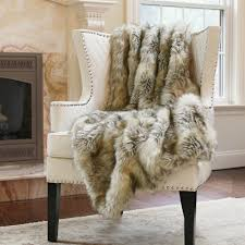 Faux Fur Throw Blanket The Mine Collection Wild Mannered Kitt Fox Faux Fur Throw Blanket