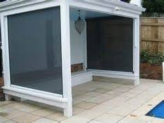 Outdoor Mesh Curtains Pvc Or Mesh Cafe And Ziptrak Blinds Will Allow You To Use Your