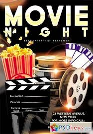 poster template movie night poster template poster