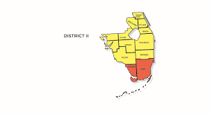 Florida District Map by Insurance Fraud Regions