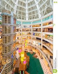the interior of suria klcc mall malaysia editorial photography