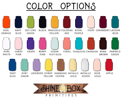 custom paint color chart for cast iron resin items