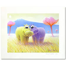 tableau pour chambre bébé tableau hippopotame les deux frères tableau pour bébé déco bébé