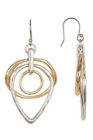 earrings brand lucky brand two tone trio hoop earrings hautelook