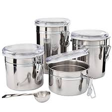 beautiful kitchen canisters amazon com kitchen canisters stainless steel beautiful canister