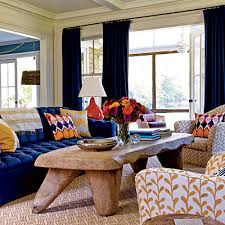 Six Colorful Style Tricks Red Accents White Living Rooms And - Red and blue living room decor