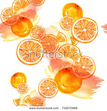 watercolor element composition greeting card orange stock