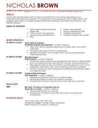 php developer resume template web developer cv exle for it livecareer shalomhouse us