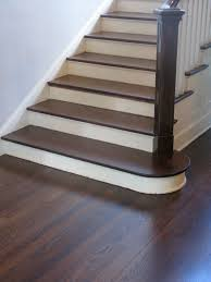 dark stained hickory wood floors combined with two tone wooden
