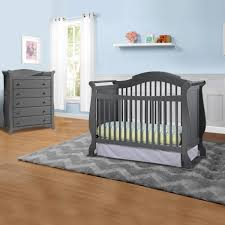 Convert Crib To Bed by Storkcraft 2 Piece Nursery Set Valentia Convertible Crib And