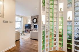 elegance interior glass partition between dining space and living
