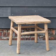 rustic square coffee table reclaimed rustic square elm coffee or side table home barn vintage