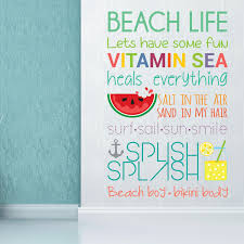 salesdecor wall stickers uk wall art stickers kitchen wall wfx9301 beach quotes