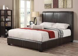 King Bedframe Leather King Upholstered Bed Frame Decorative King Upholstered