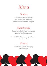 las vegas wedding invitations menu card suits