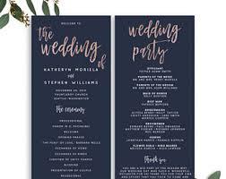 wedding program printable wedding program template etsy