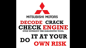 decode the mitsubishi check engine code even without diagnostic