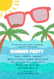 free printable summer pool invitation templates
