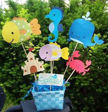 Birthday Table Decorations by Pool Party Beach Party Birthday Party Table Decorations